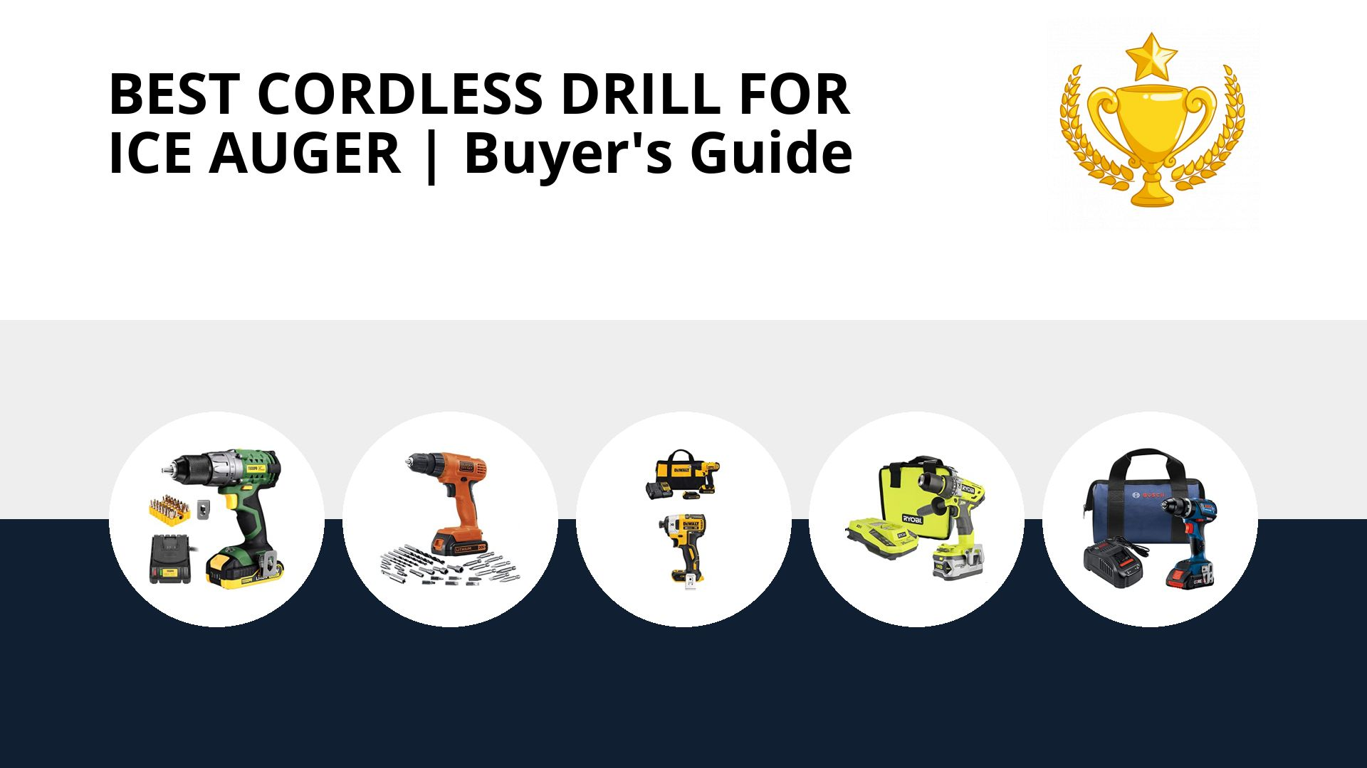 Best Cordless Drill For Ice Auger: image