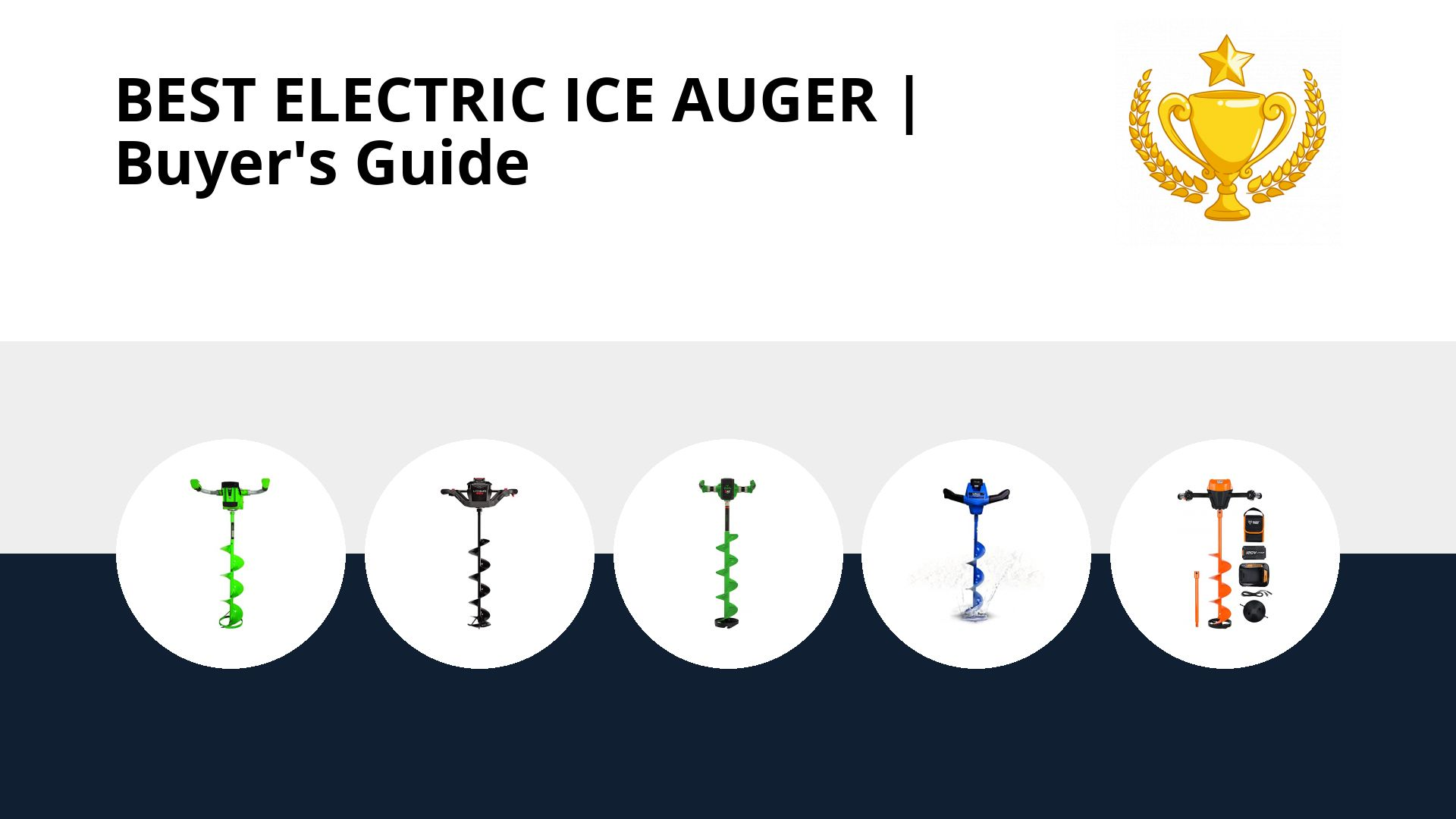 Best Electric Ice Auger: image