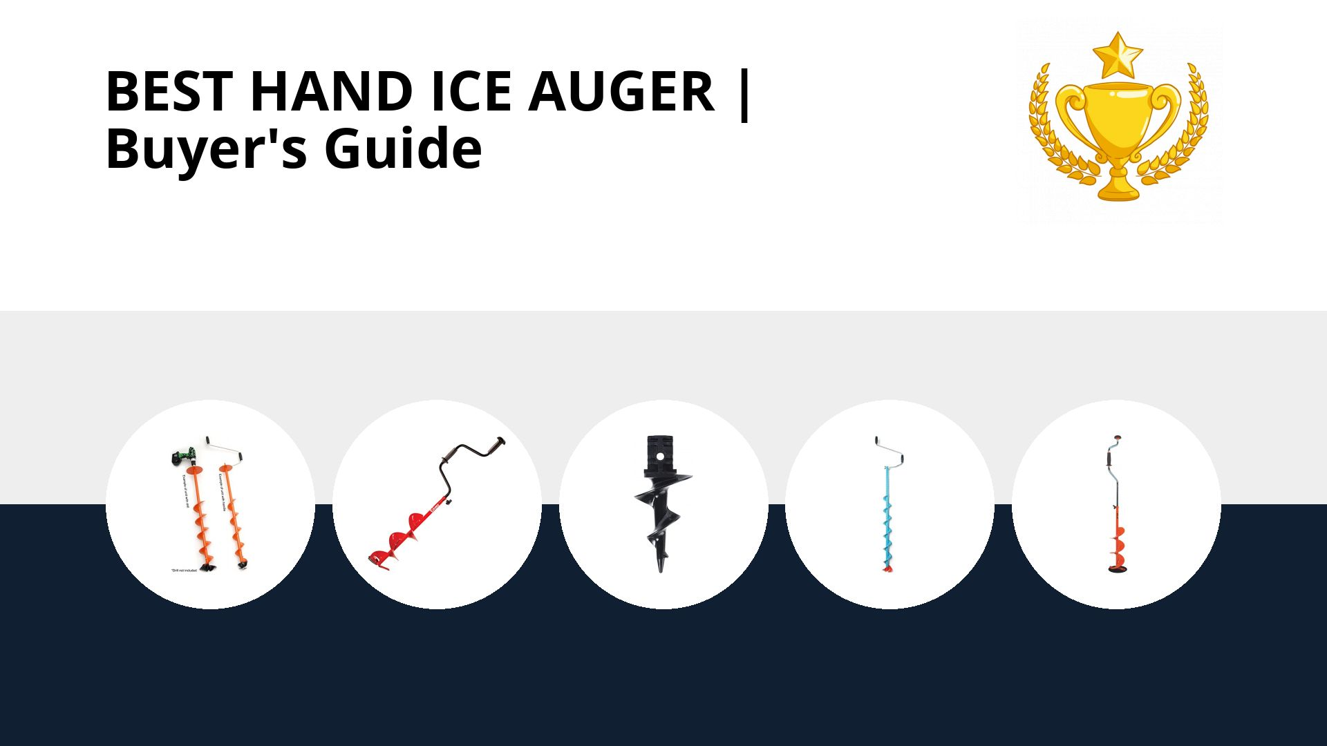 Best Hand Ice Auger: image