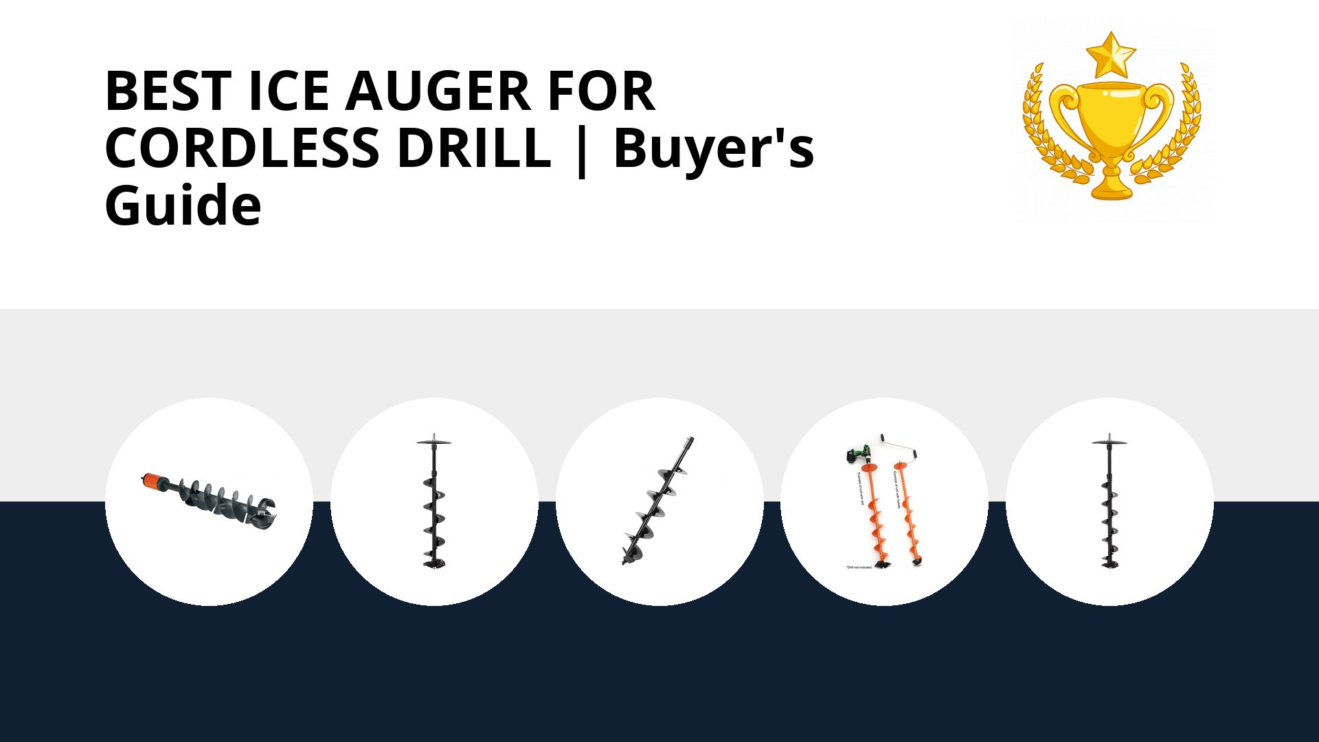 Best Ice Auger For Cordless Drill: image