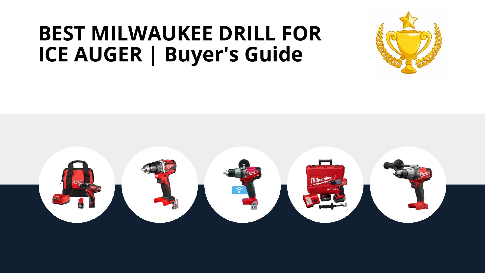 Best Milwaukee Drill For Ice Auger: image